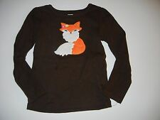 Gymboree Fall for Autumn 6 Brown Fox Girls Shirt Top LR