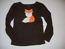 Gymboree Fall for Autumn 6 Brown Fox Girls Shirt Top LR