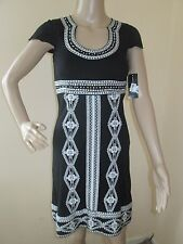 INC International Concepts Black Embroidered Dress XS for Evening Cocktail New