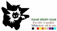 "Pokemon Gengar Gastly Haunter Graphic Die Cut decal sticker Car Truck Boat 9"""