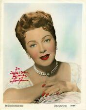 Fabulous Vintage LANA TURNER Signed Photo