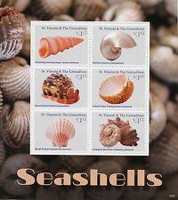 St Vincent & The Grenadines 2016 MNH Seashells 6v M/S II Nautilus Cockel Stamps