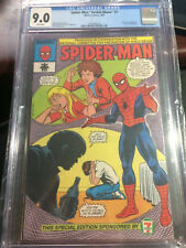 Spider-Man 1987 Child Abuse Prevention NCPCA 9.0 CGC Giveaway TOP GRADE 7-11