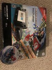 Nintendo Wii U Mario Kart 8 Console Deluxe Set Bundle w/ Box & Manuals - CLEAN