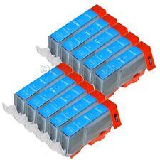 10 Patronen für CANON +Chip CLI 521 Cyan C IP 3600 IP 4600 IP 4700 MP 540 MP550