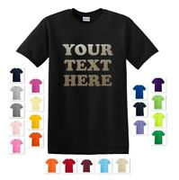 PERSONALIZED CUSTOM PRINT YOUR OWN METALLIC TEXT ON A T-SHIRT TEE MEN'S
