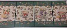Tea Cups and Ivy- Wallpaper Border, 5 yd pkg,  WEB4092 (R-01)