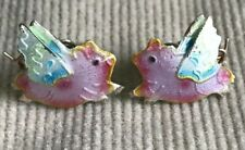 Flying Pig Earrings, When Pigs Fly, Adorable Piggy Studs Colorful