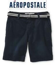 NWT Sz 28 Aeropostale Blue Men's Belted Shorts 100% Cotton Bermudas New!