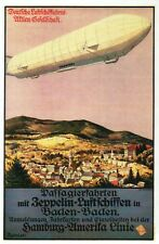 Airship Zeppelin Baden Baden Germany Blimp Dirigible Luftschiff, Modern Postcard