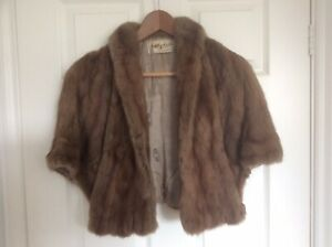 REDUCED Elegant Vintage MInk Fur Stole/wrap, Myers NY, One Size, Good Cond