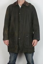 "BARBOUR Border Wax Jacket Chest 42"" Green Medium Large (C4A)"