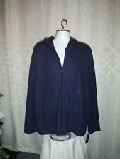 Long Sleeve Full Zip Men's Hoodie Jacket XXL APT.9 Navy Blue 2 Pockets NWT