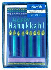 New! Unicef Hanukkah Cards - Box of 16 Cards w/ 17 Envelopes