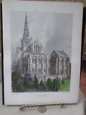 Vintage Print,GLASGOW CATHEDRAL,T.Alloms Views Scotland,1839