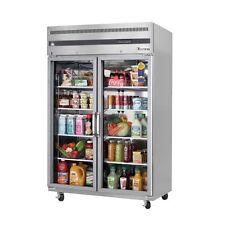 New 2 Glass Door Upright Reach In Cooler Everest Esgr2 #4208 Refrigerator Nsf