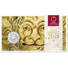 5 Euro Silber Neujahr Münze 2018 Österreich Löwenkraft - Handgehoben