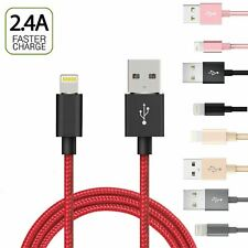 Lightning USB Charger Cable For iPhone X 7 6 5 Heavy Duty Metal Braided 1M 2M 3M