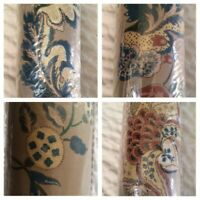 Vintage C&A Wallcoverings Floral Tudor Wallpaper Bolt Double Roll 33' X 20.5'