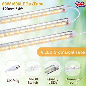 4ft T8 LED Grow Light Tube 60W Sunlike Full Spectrum Grow Lamp For Indoor Plants