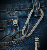 S02 Lightweight Titanium TC4 Keychain Backpack Hanging Buckle Outdoor Carabiner