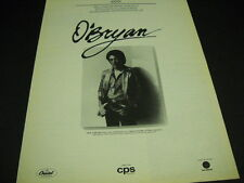O'Bryan worldwide representation by William Morris 1982 Promo Poster Ad
