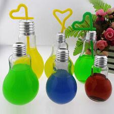 500ml Summer Bulb Water Bottle Brief Cute Milk Juice Light Bulbs Cup Leak-proof 100ml
