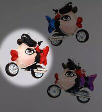 Katherine's Collection Kissing Fish Biker Christmas Ornament NEW Red 28-29013