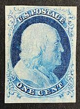 US Stamps, Scott #9 1851 1c 'unused - original gum' Type IV 2006 PF Cert