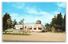 MINNESOTA LAKE GEORGE TYDOL SERVICE STATION & CABINS L.L. COOK, COPYRIGHT 1955