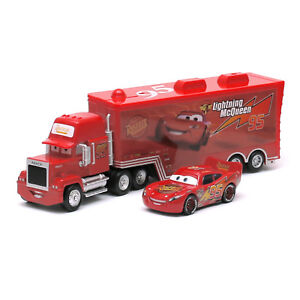 Disney Pixar Cars Lightning McQueen Hauler Mack Truck 1:55 Diecast kid Toy Loose