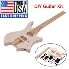 DIY Electric Guitar Kit Basswood Body Maple Wood Fingerboard Guitar Neck f Y7Z6 for sale