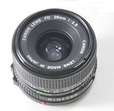 Canon f/2.8 1:2.8 28mm FD Wide Angle Lens AE1 A1 F1 AV1 AL1 AT1 T50 T70 VGC