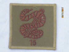 15th Squadron, Royal Air Force reggimento, DESERT, TRF, ricamati, 60x60mm