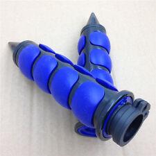 """Blue Spike 7/8"""" Rubber Grips for 98-06 SUZUKI Intruder LC 1500 Boulevard C90 Bla"""