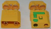 (1) XT90-S Anti-Spark 4pc Set Lipo Battery Connectors - 4.5MM Bullets / 90+ Amps