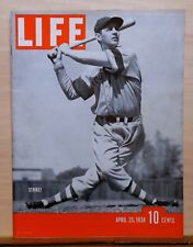 Life Magazine - April 25, 1938 - Brooklyn Dodger John Winsett cover - NY Yankees
