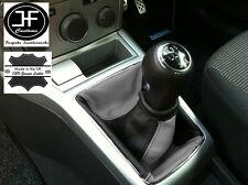 NERO Grigio adatta Opel Vauxhall Astra H Mk5 Mkv STICK GEAR Ghetta in pelle