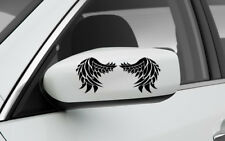 SET OF 2 SIDE MIRROR ANGEL WINGS GRAPHIC VINYL DECAL CAR TRUCK STICKER