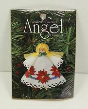DMC Counted Cross Stitch Angel Ornament Kit Poinsettias #1452