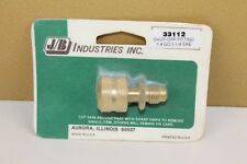 JB Industries #33112 Shut-Off Fitting 1/4 QC x 1/4 SAE { NOS