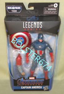 "CAPTAIN AMERICA Marvel Legends Avengers ENDGAME THOR BAF 6"" Action Figure"