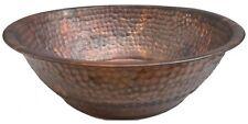 Portable Rustic Copper Foot Pedicure Tub Soaking Wash Massage Spa Therapy Bowl