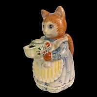 """Collectible Avon Country PURR-FECTION Cat Teapot, 1992, 9"""""""