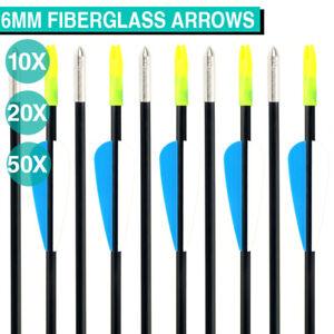"UP TO 100PCS 31"" FiberGlass Arrows Archery Hunting Compound Bow Fiber Glass Bows"
