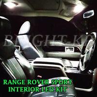 RANGE ROVER SPORT L320 2005-2013 ICE WHITE FULL LED LIGHT BULBS INTERIOR SET
