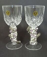 Fine Italian Crystal Water Glasses Royal Crystal Rock Highly Decorated Stems 24%