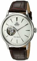 Orient Men's Bambino Open Heart Automatic Watch Leather Strap RA-AG0002S10A
