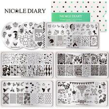 Nicole diario para Uñas Stamping Placas plantillas de impresión de sello de animales de mariposa