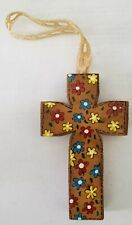 Wooden Hanging Cross Homemade Handmade Wood Home Decor Gift